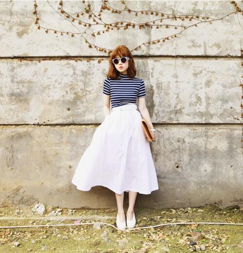 夏は白で爽やかに!白を使った爽やかで可愛い夏のおすすめコーデ特集のサムネイル画像