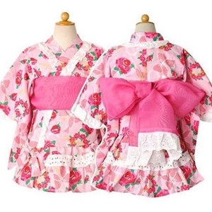 おしゃれでカワイイ!ゆかたドレス。フリルもついて大人気!のサムネイル画像