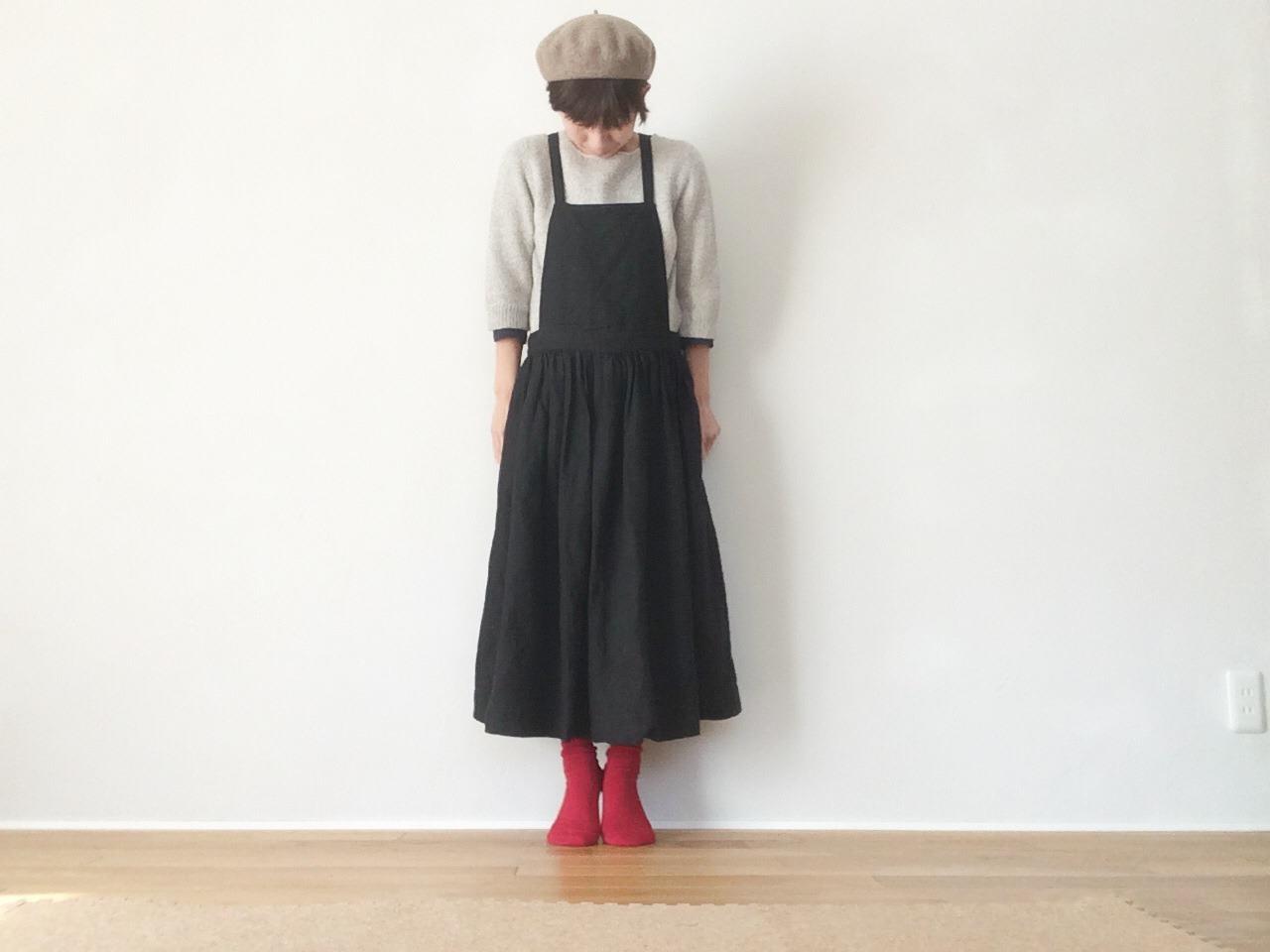 ファッション性の高い黒の無地エプロンで素敵な女性を目指そう!のサムネイル画像