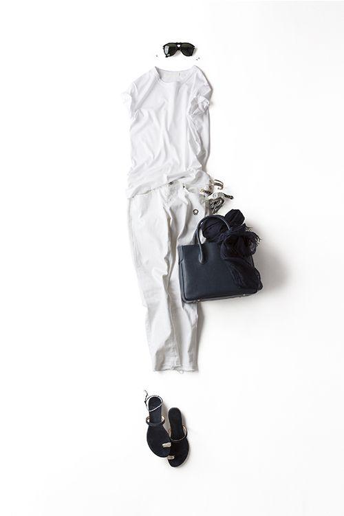 さわやかに♡大人に♡すっきりと♡使えるホワイトパンツのコーデ集のサムネイル画像
