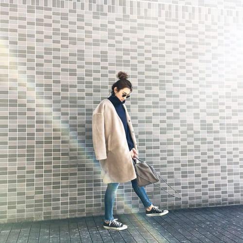 【ロング丈アイテム】の着ぶくれに注意!スッキリ足元にチェンジ◎のサムネイル画像