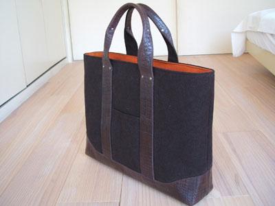 お気に入りの紙袋から型紙を作る☆トートバッグの作り方☆手作りのサムネイル画像