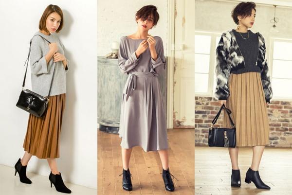 「プリーツスカート」を使ったコーディネートが大人可愛い♡のサムネイル画像