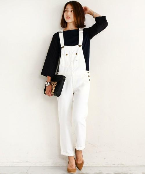 夏にピッタリ!!白のサロペットで大人可愛い爽やかスタイルに!!のサムネイル画像