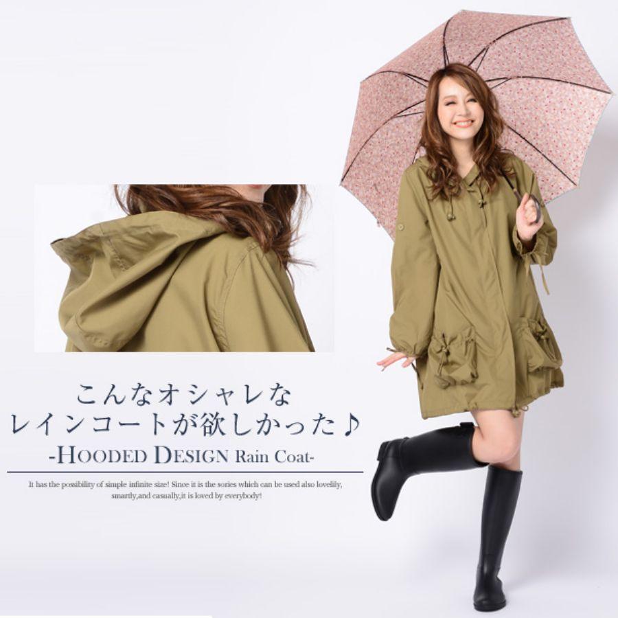 【特選】レディースレインコートで雨の日もオシャレで快適♪のサムネイル画像
