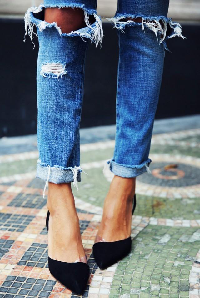 【デニムのパンツ】デニムスタイルの流行の着こなしが知りたいっ♥のサムネイル画像