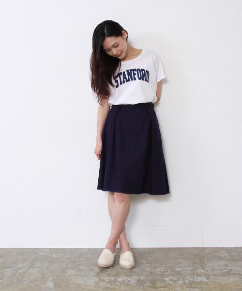 ひざ丈のフレアスカートが可愛いです!使えるファッションアイテム!のサムネイル画像
