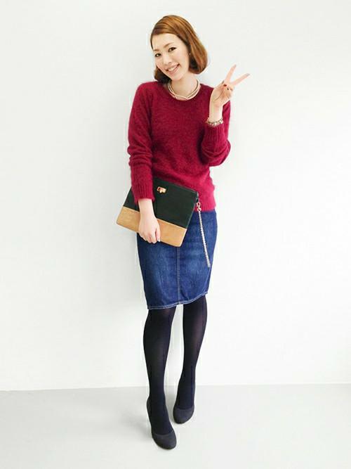 【必見です】デニムのタイトスカートがオシャレで可愛い!!のサムネイル画像