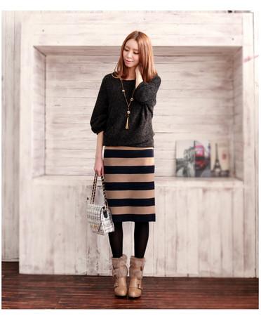 ゆるピタが可愛い!大人感たっぷりな、ニットスカートが好き!のサムネイル画像