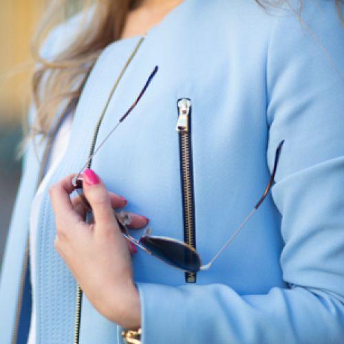 さし色はパステルブルー!!春はパステルブルーで爽やか清楚に♡のサムネイル画像