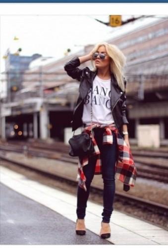 チェックシャツを腰巻きしてオシャレ度UP!可愛いコーデをご紹介!のサムネイル画像