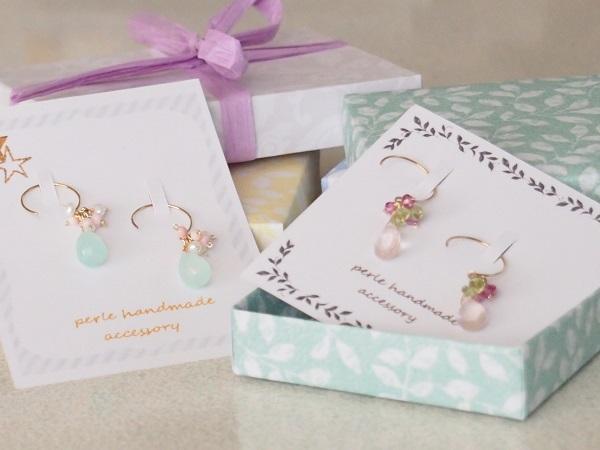 ピアスのプレゼント♡ラッピングもしっかり可愛く♡おしゃれに♡のサムネイル画像