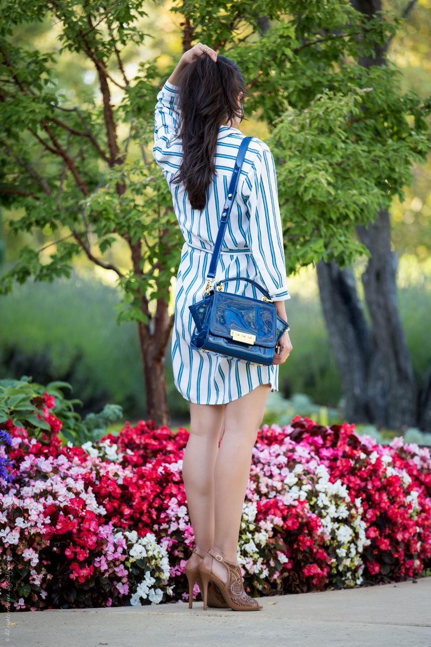 【長袖シャツワンピース】シャツスタイルのワンピースがおしゃれ♡のサムネイル画像