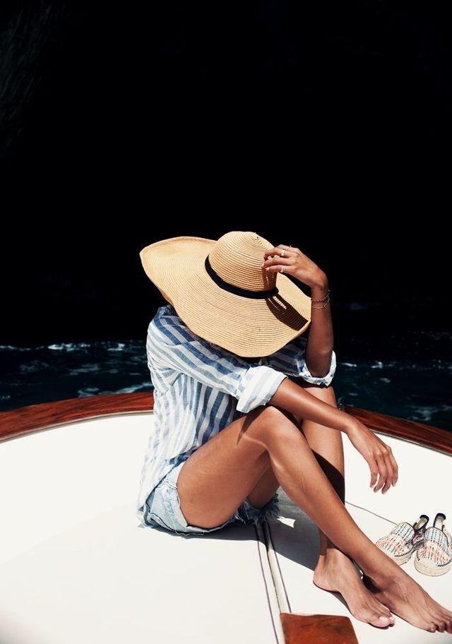 【つば広麦わら帽子】夏のコーデはやっぱりつば広の麦わら帽子♡のサムネイル画像
