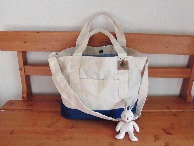 荷物が多くてもトートバッグなら安心!2wayタイプでオシャレに♪のサムネイル画像