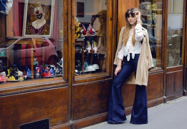 濃い色ジーンズで作る!モテカッコいい女性のデイリースタイル!のサムネイル画像