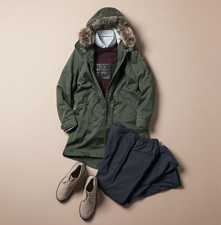 秋冬の大定番!GUモッズコートでかなえる大人カジュアルコーデのサムネイル画像
