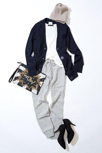 ユニクロスエットパンツで着慣れた着こなしに挑戦しませんか?のサムネイル画像