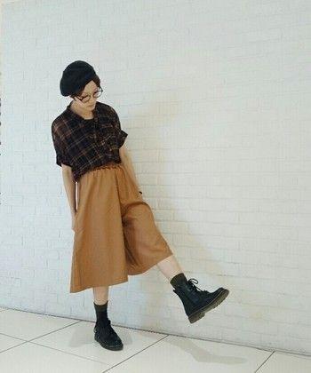 秋冬でも大活躍!大人気ガウチョパンツの靴別コーデをご紹介!のサムネイル画像
