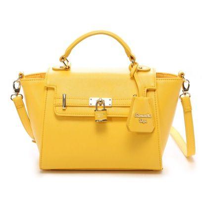 【今日のコーデを華やかに♡】黄色のショルダーバッグが可愛すぎる♡のサムネイル画像
