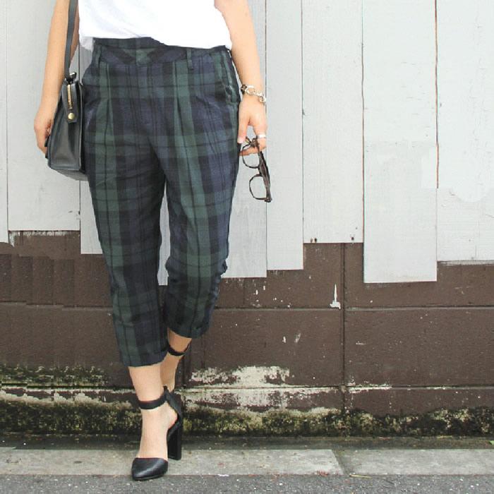 これ1枚でおしゃれ!チェック柄パンツでおしゃれをもっと楽しく♡のサムネイル画像