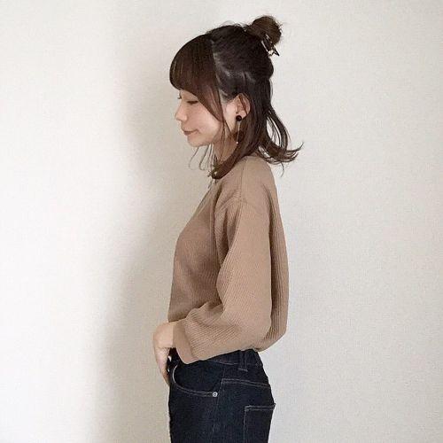 安くてカラバリ豊富♡ユニクロの《ワッフルクルーネックT》特集!のサムネイル画像