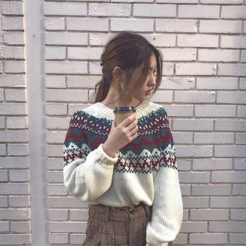 「ほっこり」増しまし♡ノスタルジックに着る【ノルディック柄】のサムネイル画像