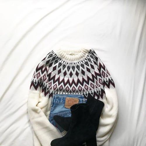 最近よく見る《○○柄》のセーター♡ 「あの柄」が大人気すぎる!のサムネイル画像
