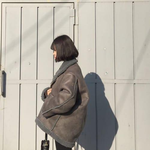 オルチャン風コーデ♡【ボリュームアウター×スキニー】が可愛いっ!のサムネイル画像