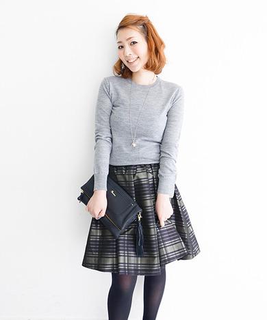トレンド感たっぷり♡チェックスカートを大人可愛く着こなす方法☆のサムネイル画像