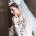 まるでロイヤルウェディング☆ウェディングドレスは長袖がいいね☆のサムネイル画像