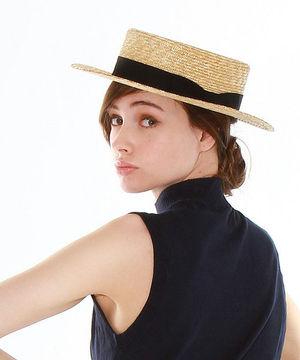ガーリーだけどちょっぴりレトロなコーデ♡カンカン帽はこう着る!!のサムネイル画像