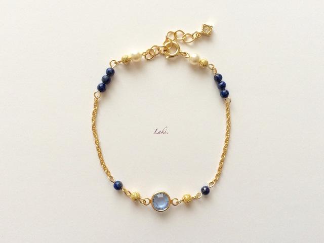 """青の美しい輝きが魅力的♡""""サファイア""""のブレスレットが素敵!のサムネイル画像"""