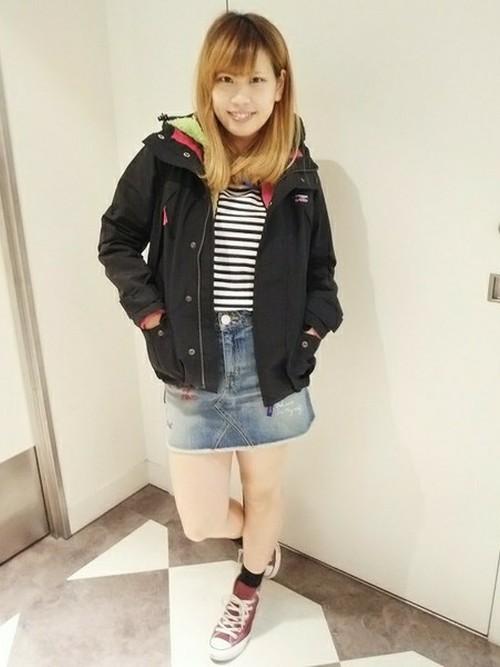 おしゃれなニットパーカーを着て、コーディネートを楽しもう☆のサムネイル画像