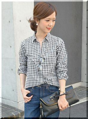 【2016年春】おすすめの黒のチェックシャツを使ったコーデ♡のサムネイル画像