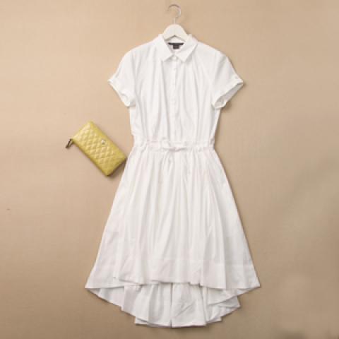 カジュアルに♡白のシャツワンピースが使えるファッションアイテム♡のサムネイル画像