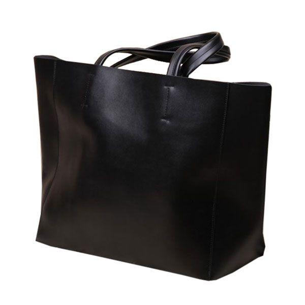【トートバッグ】スタンダードなカラーの黒のトートバッグ画像集!のサムネイル画像
