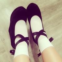 白の靴下コーデで!いろんなシューズとのファッションを楽しもう♡のサムネイル画像