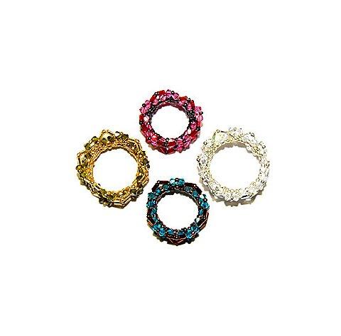 ワイヤー・ビーズ・折り紙で作る簡単な指輪の作り方についてのサムネイル画像