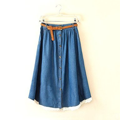 【デニムのロングスカート】でつくるコーデがおしゃれです♡のサムネイル画像