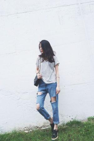 ブランドチェーンバッグで作る♪ 抜け感のある着こなしコーデ!のサムネイル画像