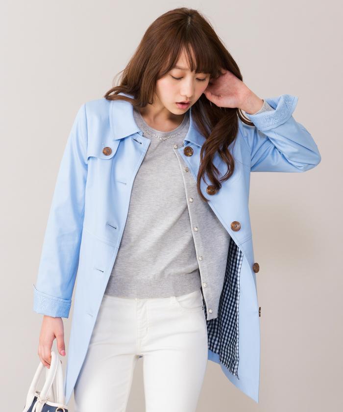 1年中着れるレディースステンカラーコート1着は持っていたいですね!のサムネイル画像