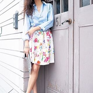 【花柄・チェック柄・迷彩柄】のスカートが可愛い♡お勧めコーデ♡のサムネイル画像