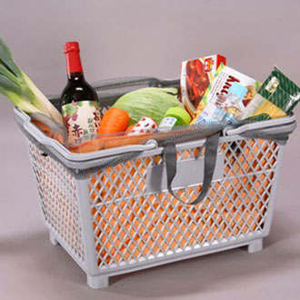レジかごのエコバッグが便利と人気!レジかごのエコバッグの使い方のサムネイル画像