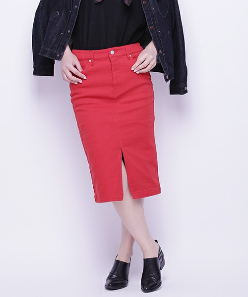 おしゃれさんも大好き!ひざ丈のタイトスカートコーデ満載です。のサムネイル画像