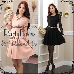 f2733cca425cb 一枚で簡単に着れる便利な袖ありのパーティドレスを紹介します|