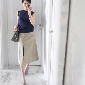 ベージュのスカートで女の子らしいコーデ!素敵なコーデを ...